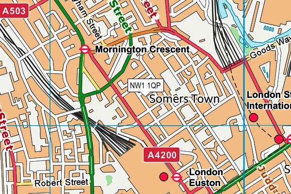 NW1 1QP map - OS VectorMap District (Ordnance Survey)