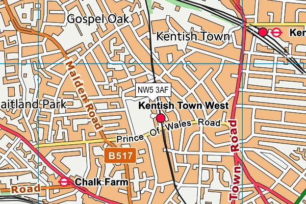 Talacre Community Sports Centre map (NW5 3AF) - OS VectorMap District (Ordnance Survey)