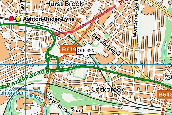 Parochial CofE Primary and Nursery School, Ashton-under-Lyne map (OL6 6NN) - OS VectorMap District (Ordnance Survey)
