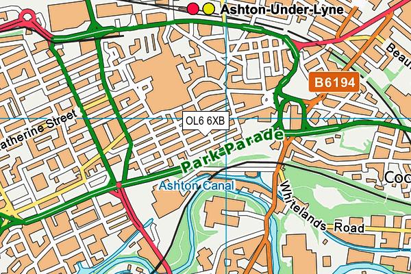 Grafton House Preparatory School map (OL6 6XB) - OS VectorMap District (Ordnance Survey)