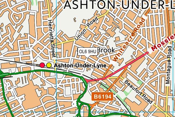 St James CofE Primary School, Ashton-under-Lyne map (OL6 9HU) - OS VectorMap District (Ordnance Survey)