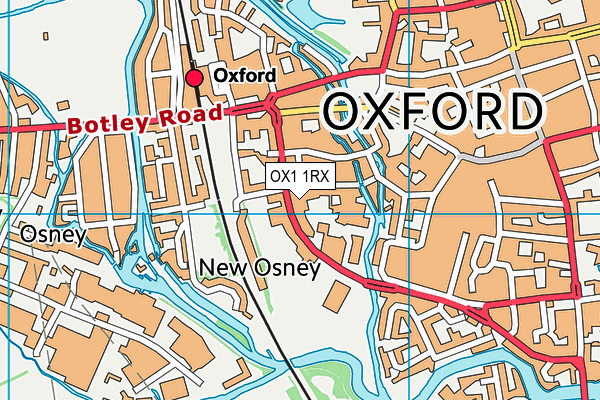 Oxford Ice Rink map (OX1 1RX) - OS VectorMap District (Ordnance Survey)