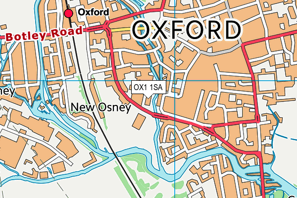 Activate Learning map (OX1 1SA) - OS VectorMap District (Ordnance Survey)