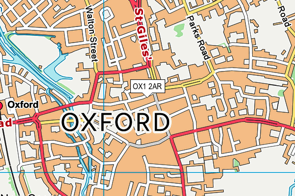 Cherwell College Oxford map (OX1 2AR) - OS VectorMap District (Ordnance Survey)