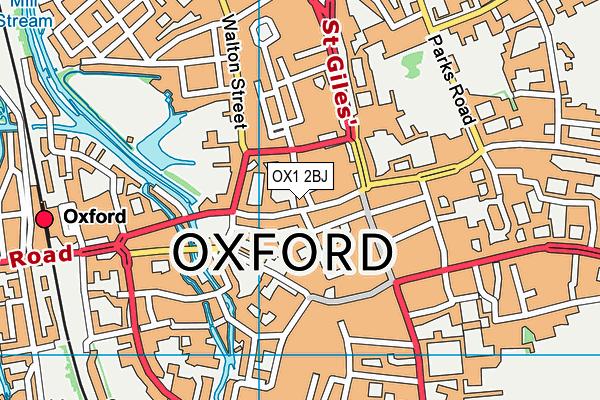 OX1 2BJ map - OS VectorMap District (Ordnance Survey)