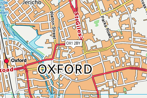OX1 2BY map - OS VectorMap District (Ordnance Survey)
