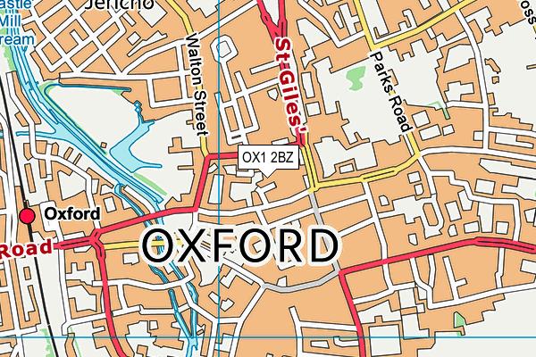 The Eckersley School of English map (OX1 2BZ) - OS VectorMap District (Ordnance Survey)