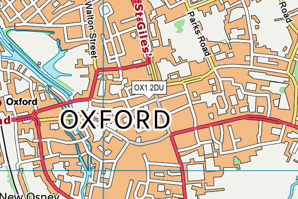 OX1 2DU map - OS VectorMap District (Ordnance Survey)