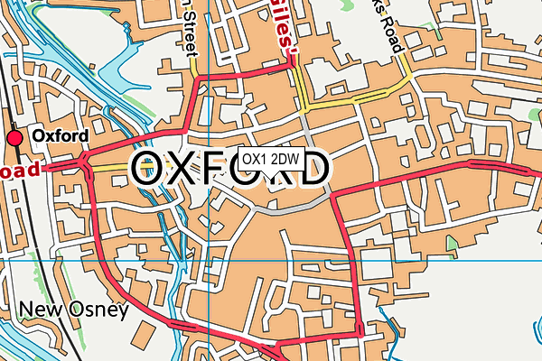OX1 2DW map - OS VectorMap District (Ordnance Survey)