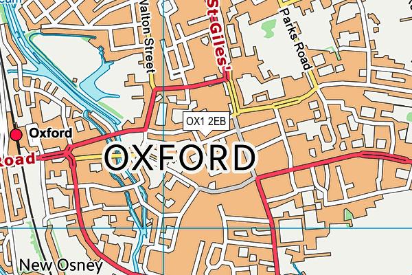 OX1 2EB map - OS VectorMap District (Ordnance Survey)