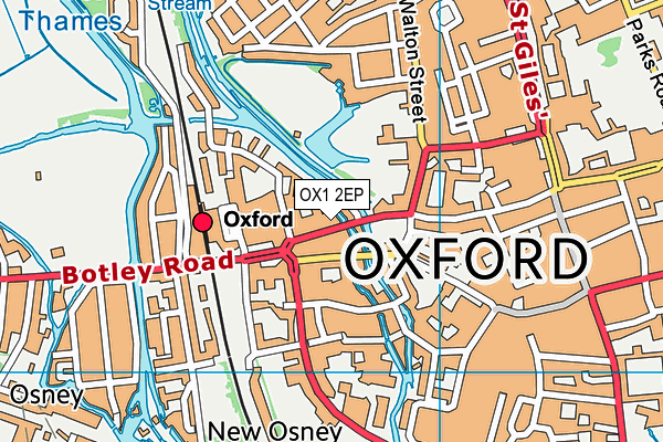 Carfax College map (OX1 2EP) - OS VectorMap District (Ordnance Survey)