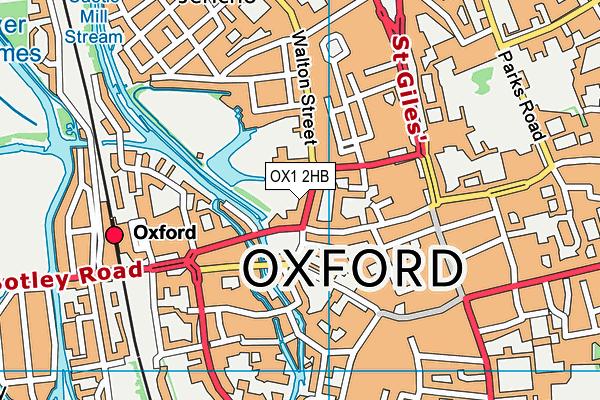 Worcester College map (OX1 2HB) - OS VectorMap District (Ordnance Survey)