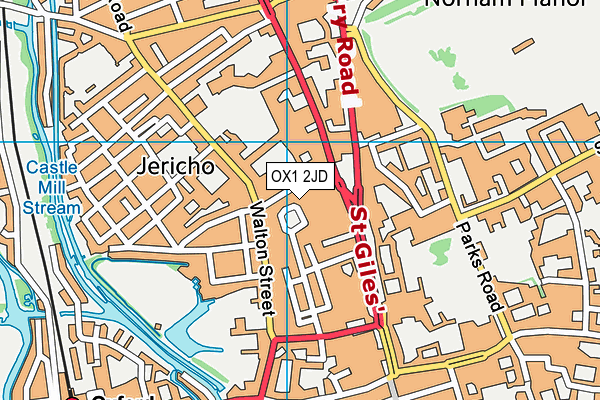 University of Oxford map (OX1 2JD) - OS VectorMap District (Ordnance Survey)
