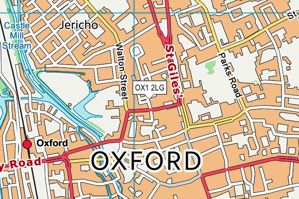 OX1 2LG map - OS VectorMap District (Ordnance Survey)
