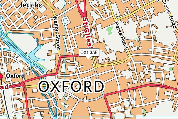 OX1 3AE map - OS VectorMap District (Ordnance Survey)