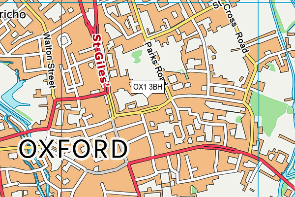 OX1 3BH map - OS VectorMap District (Ordnance Survey)