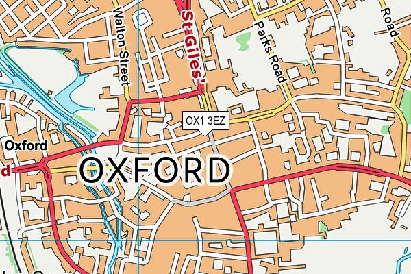 OX1 3EZ map - OS VectorMap District (Ordnance Survey)