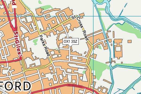 OX1 3SZ map - OS VectorMap District (Ordnance Survey)