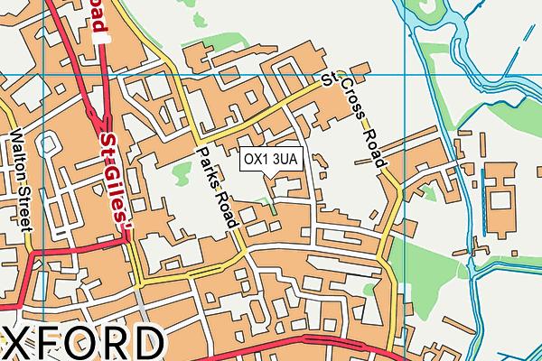 OX1 3UA map - OS VectorMap District (Ordnance Survey)