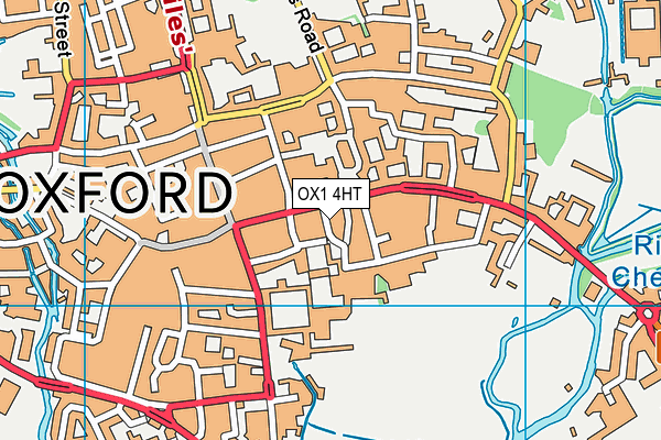 Oxford Sixth Form College map (OX1 4HT) - OS VectorMap District (Ordnance Survey)