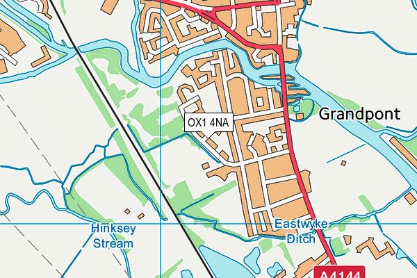 Grandpont Recreation Ground map (OX1 4NA) - OS VectorMap District (Ordnance Survey)