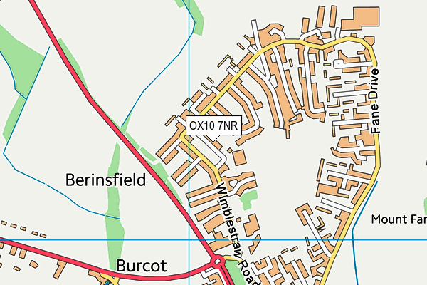Abbey Sports Centre, Berinsfield map (OX10 7NR) - OS VectorMap District (Ordnance Survey)