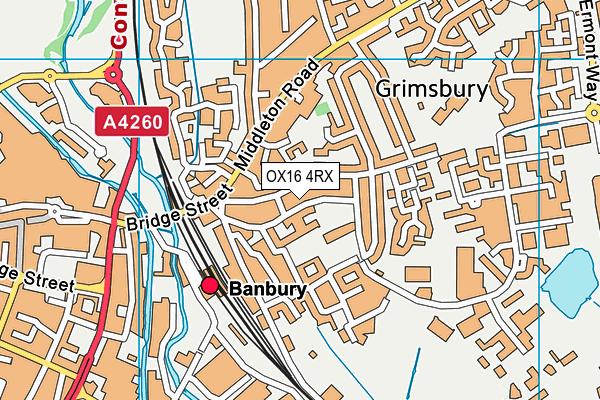 Dashwood Banbury Academy map (OX16 4RX) - OS VectorMap District (Ordnance Survey)