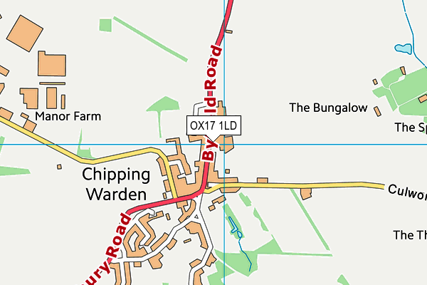 Chipping Warden Primary Academy map (OX17 1LD) - OS VectorMap District (Ordnance Survey)