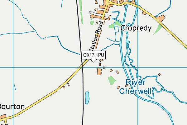 Cropredy Church of England Primary School map (OX17 1PU) - OS VectorMap District (Ordnance Survey)
