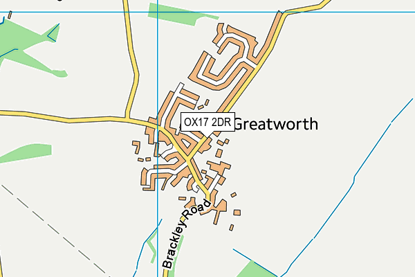 Greatworth Primary School map (OX17 2DR) - OS VectorMap District (Ordnance Survey)