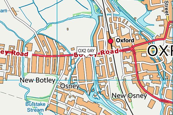OX2 0AY map - OS VectorMap District (Ordnance Survey)