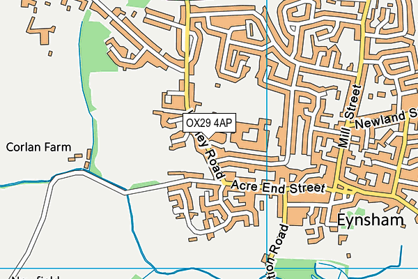 Bartholomew Sports Centre, Eynsham map (OX29 4AP) - OS VectorMap District (Ordnance Survey)