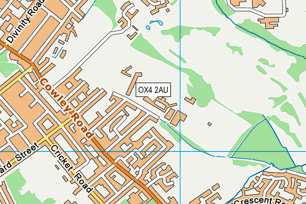 Oxford Spires Sport & Fitness map (OX4 2AU) - OS VectorMap District (Ordnance Survey)