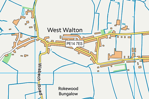 PE14 7ES map - OS VectorMap District (Ordnance Survey)