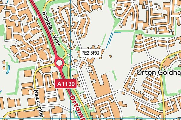 PE2 5RQ map - OS VectorMap District (Ordnance Survey)