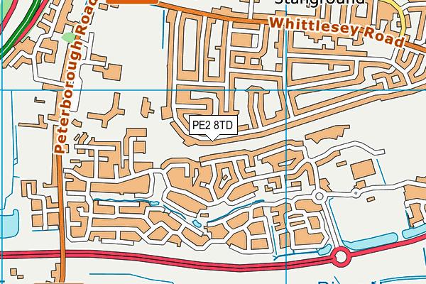Oakdale Primary School map (PE2 8TD) - OS VectorMap District (Ordnance Survey)