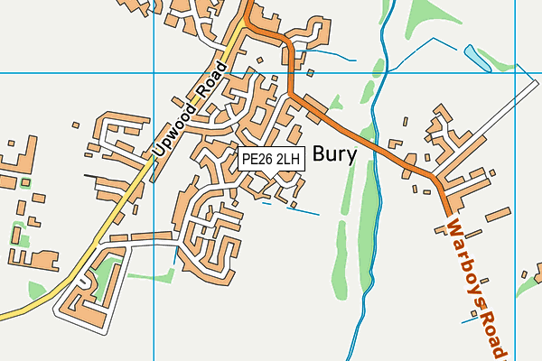 Bury Parish Playing Field map (PE26 2LH) - OS VectorMap District (Ordnance Survey)