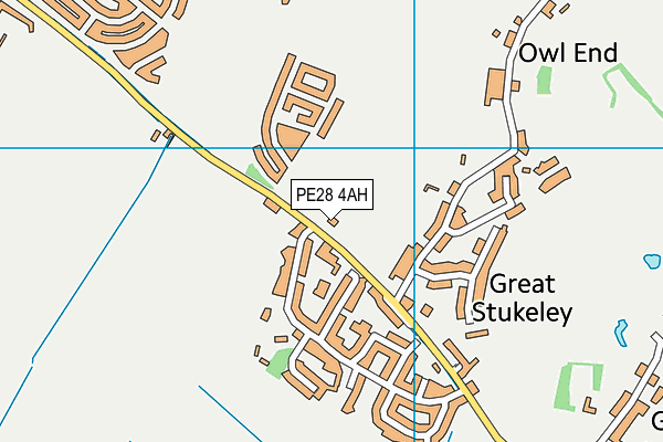 Hyl - Great Stuckeley Field map (PE28 4AH) - OS VectorMap District (Ordnance Survey)