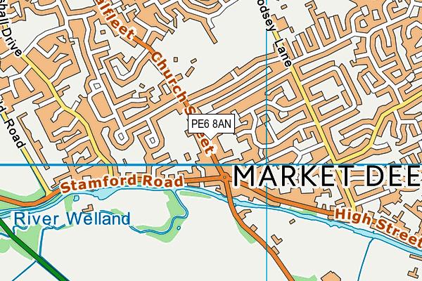 PE6 8AN map - OS VectorMap District (Ordnance Survey)