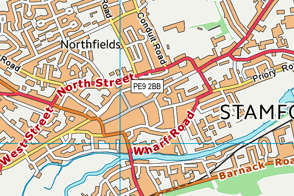 Stamford Library map (PE9 2BB) - OS VectorMap District (Ordnance Survey)