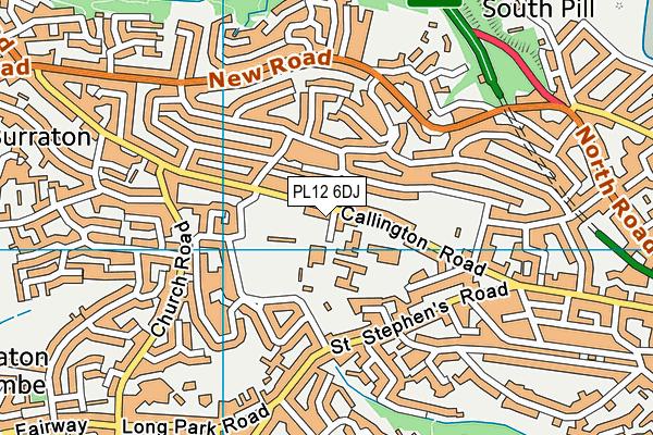 Saltash Leisure Centre map (PL12 6DJ) - OS VectorMap District (Ordnance Survey)