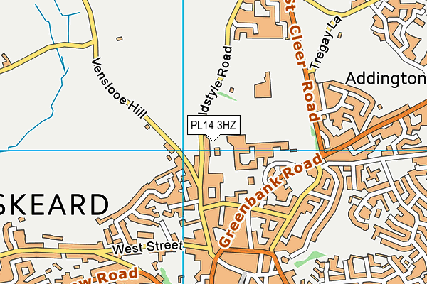 Liskeard Leisure Centre map (PL14 3HZ) - OS VectorMap District (Ordnance Survey)