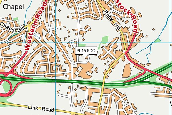 Launceston Leisure Centre map (PL15 9DQ) - OS VectorMap District (Ordnance Survey)