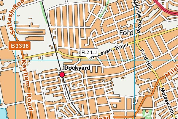 PL2 1JJ map - OS VectorMap District (Ordnance Survey)