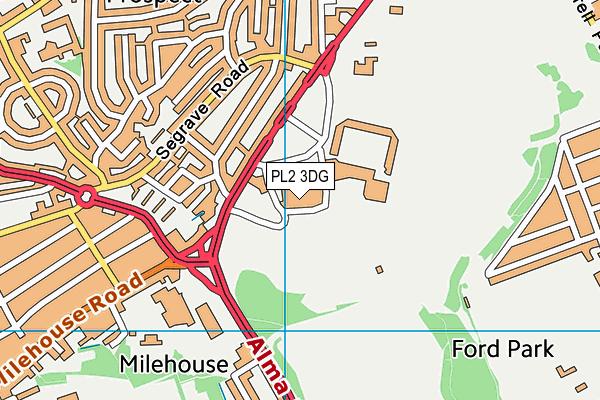 Plymouth Life Centre - Swim map (PL2 3DG) - OS VectorMap District (Ordnance Survey)