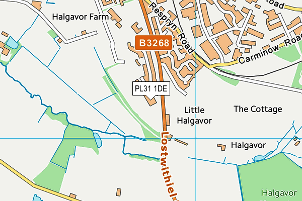 Bodmin Leisure Centre map (PL31 1DE) - OS VectorMap District (Ordnance Survey)