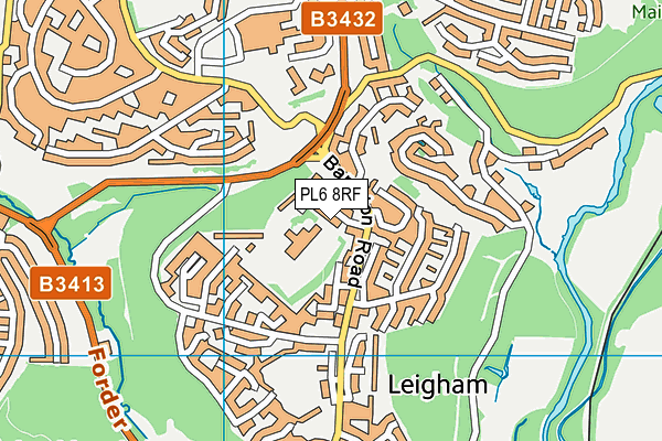 Leigham Primary School map (PL6 8RF) - OS VectorMap District (Ordnance Survey)