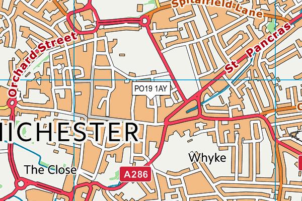 PO19 1AY map - OS VectorMap District (Ordnance Survey)