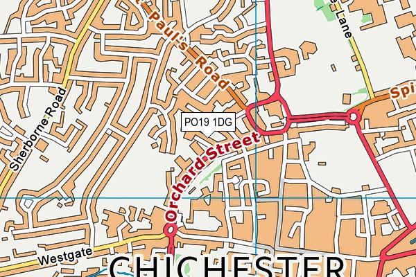 Lancastrian Infant School map (PO19 1DG) - OS VectorMap District (Ordnance Survey)