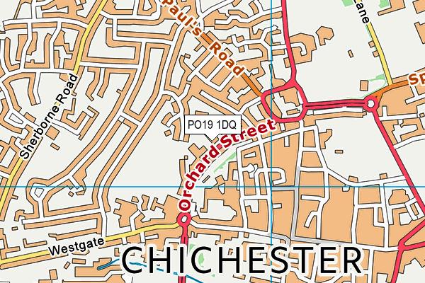 Central CofE Academy map (PO19 1DQ) - OS VectorMap District (Ordnance Survey)